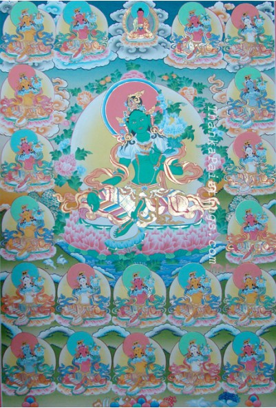 21 Green Tara Thanka