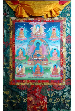 Meji Buddha Set Thanka