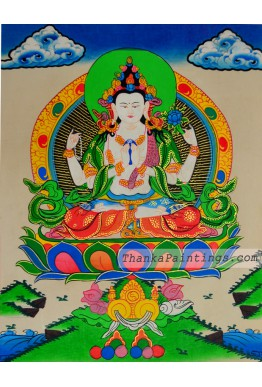 Chenrezig Figure Thangka