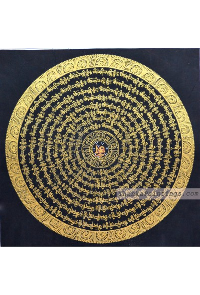 Black Mandala Thangka Paintings