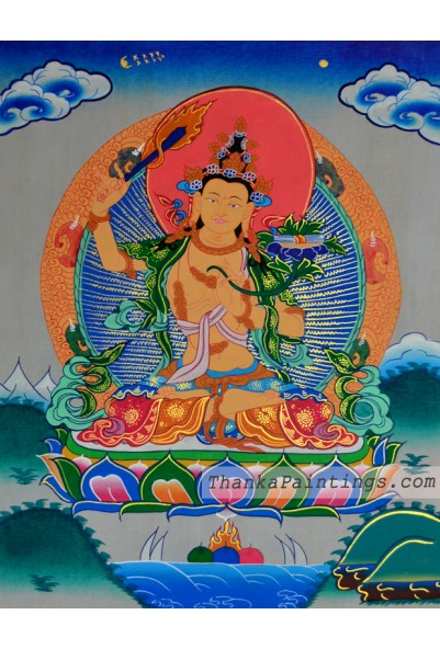Manjushri Figure Thanka