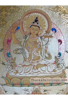 Manjushri Gold Thanka