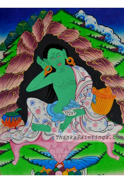 Milarepa Figure Thangka