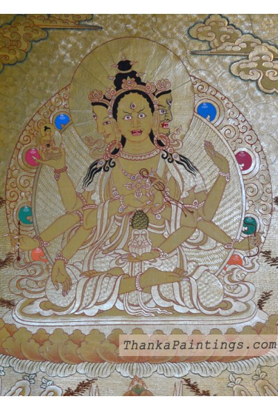 Namgyalma Gold Lap Thanka