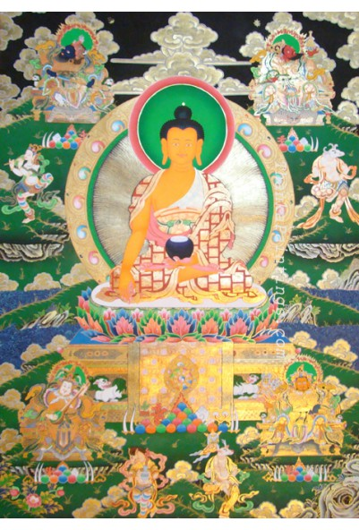Sakyamuni & 4 Kings Thanka