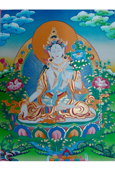 White Tara Thanka