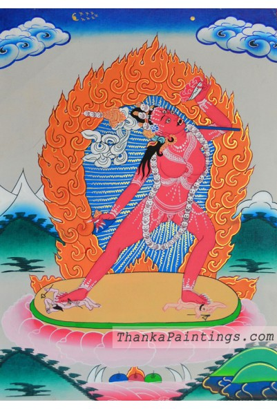 Yogini Figure Thangka